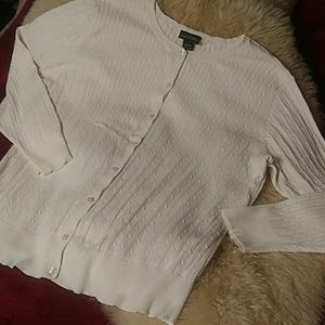 Lane Bryant Sweaters - Lane Bryant cream cardigan sz 22/24
